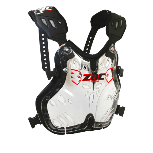 Zac Speed EXOTEC chest protector, roost protector. Configurable chest plate
