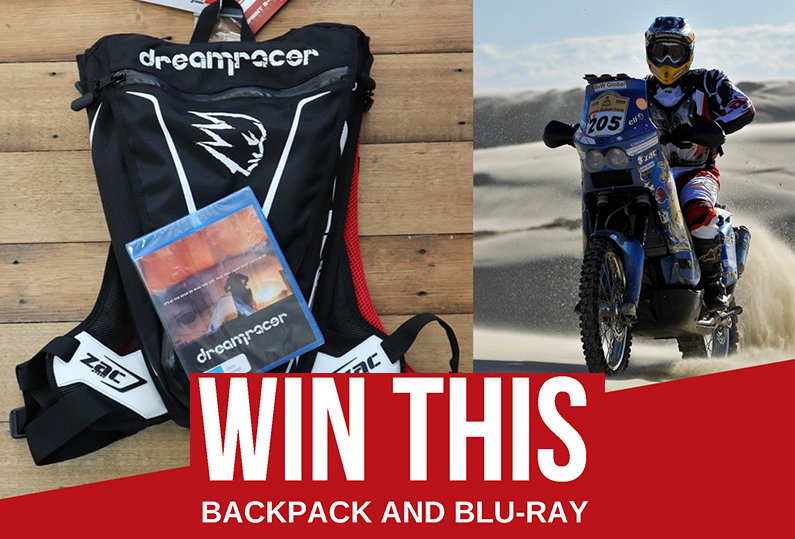Win a custom Zac Speed Dreamracer Backpack & Blu-Ray